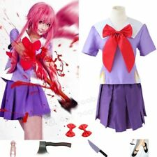 The Future Diary Gasai Yuno Mirai nikki Cosplay Costume Size S-XL FREE  Cloth XL