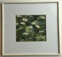 Monique BOLL- ANDLAUER (1942) Rare Aquarelle Fleurs Alsace c1990 Signée