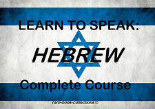 LEARN HEBREW FAST - SPOKEN LANGUAGE COURSE ON DVD- BOOK & 22 HRS AUDIO MP3 SPEAK