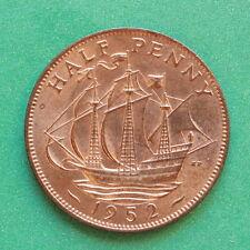 1952 George VI Halfpenny UNC Uncirculated SNo41714