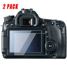 2 Pack Canon EOS 7D Mark II Camera Screen Protector Tempered Glass for Canon