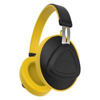 Bluedio TM Bluetooth 5.0 Headphones Wireless Voice Control Headset Stereo Yellow