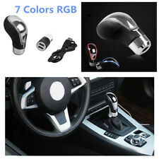 Touch Activated Sensor 7 Colors RGB USB Charge LED Car Gear Shift Knob& Adapters