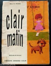 CLAIR MATIN méthode de lecture enfant Armand Colin livre pour apprendre à lire