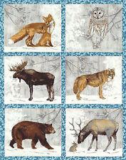 "Winter White 2 - Animal Warmth - Blue/Silver - 24"" x 44""  by Lynnea Washburn"
