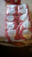 Debbie Bliss Prima Wool. Shade 30 red/orange. 10x 50grams