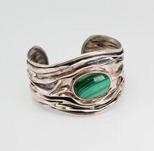 malachite bracelet Dominique Dinouart Ddd Large modern wrinkled sterling silver
