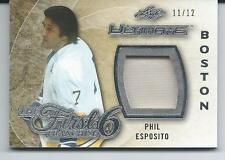2015-16 ITG Leaf Ultimate Hockey PHIL ESPOSITO Jersey 11/12 Memorabilia First 6