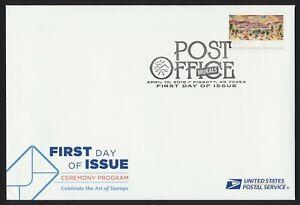 #5376a Post Office Murals, FDOI Ceremony Program w/ Invitation