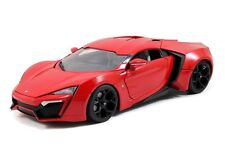 Jada Lykan Hypersport Red Fast and Furious 1/24 Furious 7 Diecast CAR model