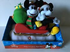 "DISNEY MICKEY AND MINNIE SLEIGH RIDE SINGING ""HERE COMES SANTA CLAUS"",  MOVE TOO"