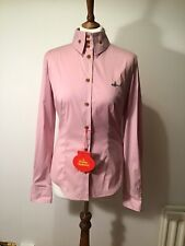 Vivienne Westwood Red Label Pink Krall Orb Cotton  Shirt Size 42 It, 10 Uk New