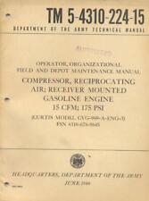 TM5-4310-224-15 Compressor Curtis CVG-969-A-ENG-3 1960 Technical Book US Army