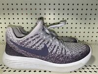 Nike Lunarepic Low Flyknit 2 Womens Athletic Running Shoes Size 7 Purple Gray