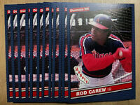 1986 Donruss #280 ROD CAREW ~ 12 CARD LOT ~FROM FACTORY SETS ~ HOF HALL OF FAME