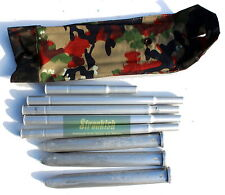SWISS ARMY CAMPING TENT POLE & PEGS IN ALPEN CAMO BAG / POUCH
