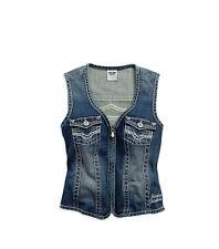 Genuine Harley-Davidson Ladies Embellished Denim Vest, 99123-15vw, S