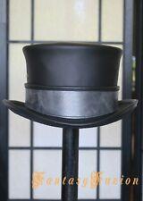 Steampunk Hat Adventurer Explorer Leather Top Hat Standard with Band