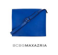BCBG MAXAZRIA Charlize Oversized-Flap Leather Messenger Bag SOLD OUT
