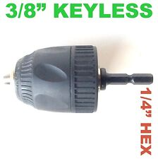 """1 pc Keyless 3/8"""" Cap Drill Chuck with Conversion 1/4"""" Hex Adapter sct 888"""