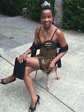 New Custom heavily embellished beaded, Fringe 2 piece Dress Paco Rabannesque S-M