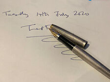 Vintage Parker 75 Sterling Silver Cicele Fountain Pen, Used (Good Condition)