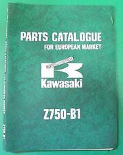 KAWASAKI Z750 Z 750 CATALOGO RICAMBI SPARE LIST PARTS CATALOG MANUAL CATALOGUE