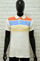 Polo LACOSTE Uomo Taglia 3 XS Maglia Maglietta Camicia Shirt Man Cotone a Righe