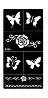 Stencils for Henna Tattoos Self-Adhesive Butterflies Body Art Temporary Tattoo