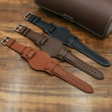 Men Genuine Leather Cuff Pad Watch Band Strap Watchstrap Watchband Retro Classic