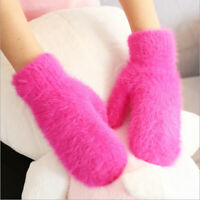 Winter Warmer Women Lady Soft Wool Gloves Mittens Knitted Thick Glove Hand New