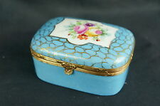 "Superb Exceptional antique 19th C. hand painted French box-4"" wide"