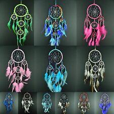 GIRLS BOYS NEW DREAM CATCHER BLUE PINK RAINBOW GREEN 9 x 35 cm DREAMCATCHER