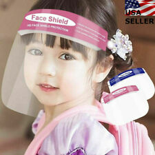 5Pcs Child Kids Face Shield Reusable Washable Safety Hd Clear Anti Fog Mask