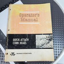 Massey Ferguson Mf 24 34 44 33 43 63 62 82 Quick Attach Corn Head Opers Manual