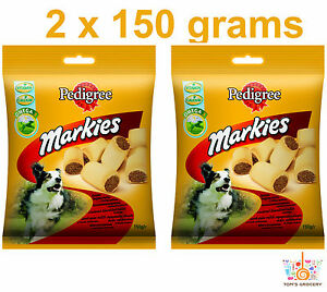 2 x PEDIGREE MARKIES Dog Treats with Omega3 150g 5.29 oz