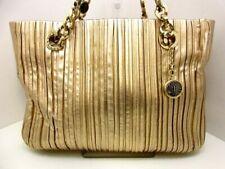 Auth BVLGARI Motene Nappa Prise 34665 Gold Leather Tote Bag