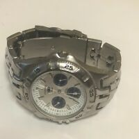 Men's Fossil Blue BQ-9184 Silver Dial Multifunction Stainless Steel Watch