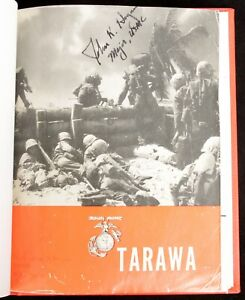 Militaria Book The Battle for Tarawa US Marines Signed John K Hogan Silver Star
