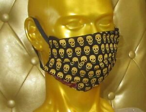 angeldog_Exclusive Alltagsmaske Stoffmaske_totenkopf Motiv_Zeigen Sie Stil_Gr: L
