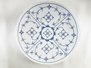 Platte rund 26,5 cm Winterling indischblau Porzellan, Strohblumenmuster