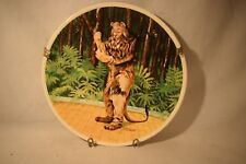 """Wizard of Oz 1978 Knowles Plate Cowardly Lion """"If I Were King"""" #01215C (a718)"""