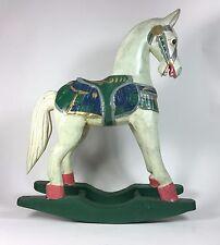 Vintage Hand Carved Wood Rocking Horse