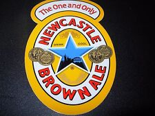 """NEWCASTLE CLASSIC BROWN ALE 4"""" Logo STICKER decal craft beer brewery brewing"""