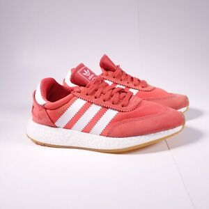 Size 7.5 Women's adidas Originals I-5923 Iniki Sneakers BB6864 Orange/White