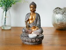 Sitting Buddha Candle Tealight Holder Mediating Rustic Decor Gift Thai Spiritual