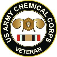 """Army Chemical Corps Iraq Veteran 5.5"""" Decal / Sticker"""
