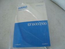 YAMAHA EF1600/2500 OWNERS MANUAL LIT-19626-00-22