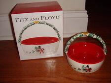 Fitz and Floyd Snowman Christmas Basket NIB