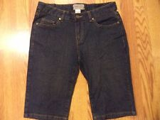 # Womens 6 Tex by Max Azria Dark Blue Jeans Long Denim Shorts Bermuda Stretch